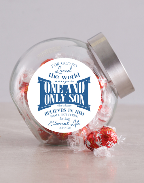 christmas: Believe in Him Candy Jar!