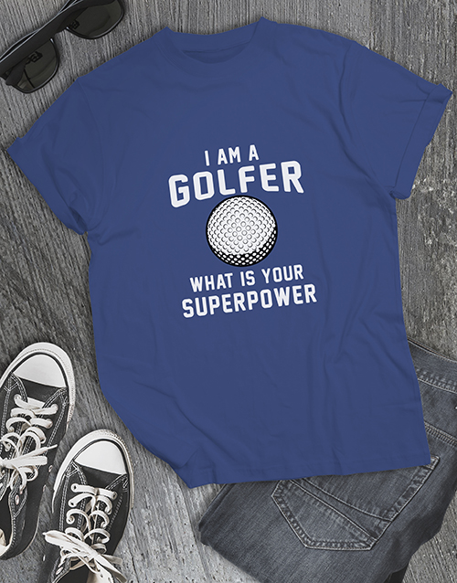 clothing: Golf Is My Superpower Shirt!