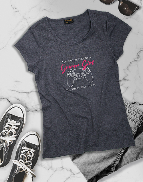 clothing: Beaten By A Gamer Girl Tshirt!
