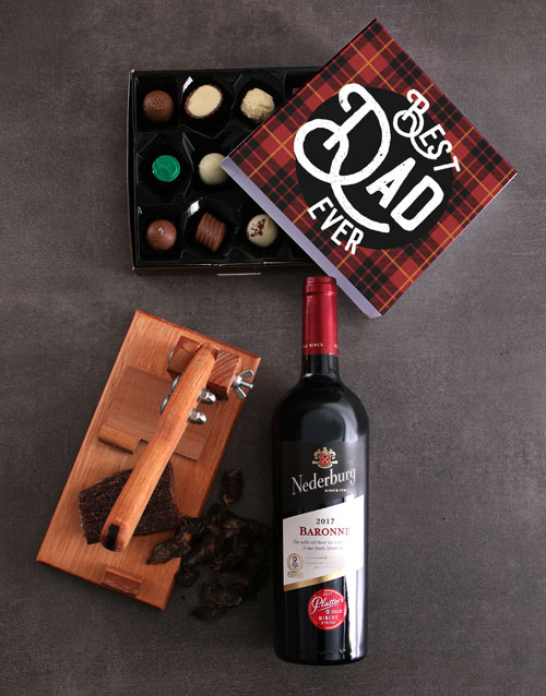 gourmet: Wine Biltong And Truffle Hamper For Dad!