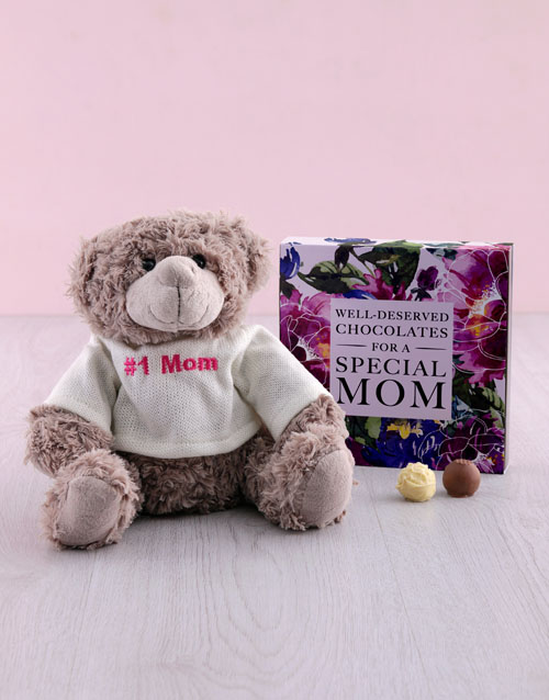 chocolate: Special Mom Chocs And Teddy!