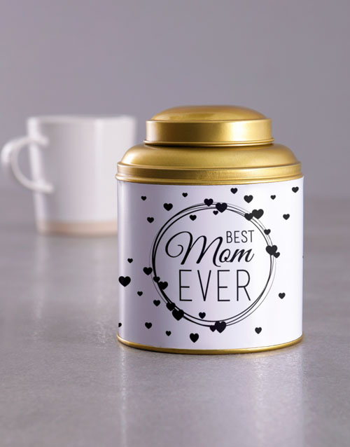 mothers-day: Best Mom Gold Tea Tin!