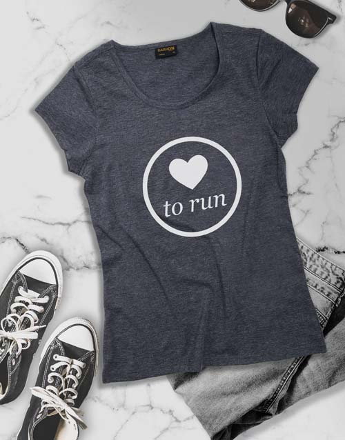 clothing: Love To Run Ladies T Shirt!