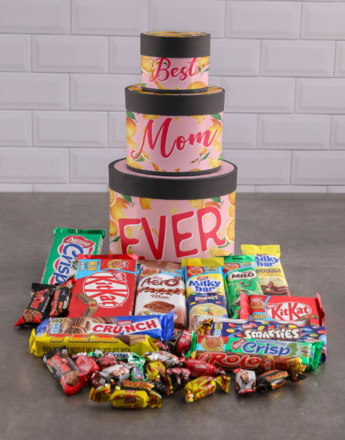 mothers-day: Best Mom Hat Box Tower!