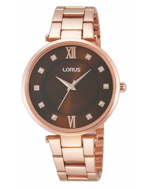 for-her: Lorus Ladies Rose Gold and Copper Brown Watch!