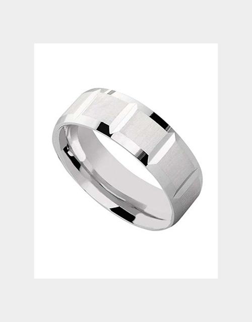 rings: Silver 925 wedding band with matt shiny 7mm finish!