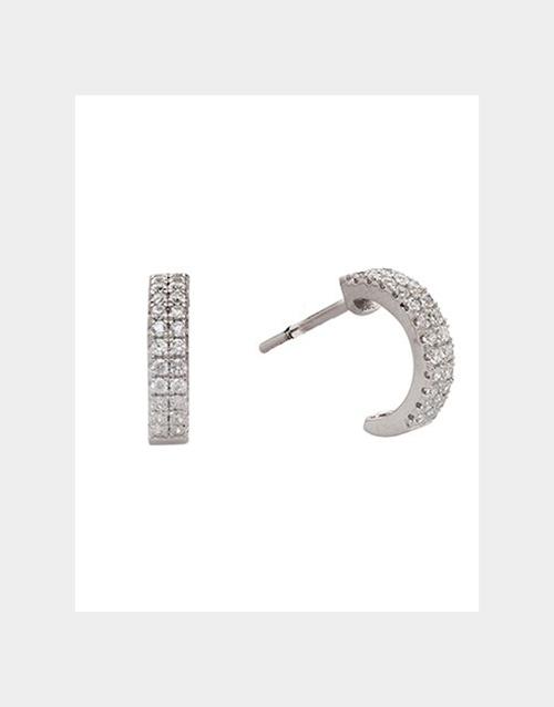 earrings: Silver and Cubic Zirconia huggie earrings!