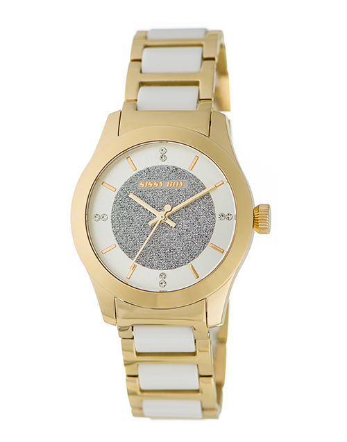 anniversary: Sissy Boy Elegance White and Gold Watch!