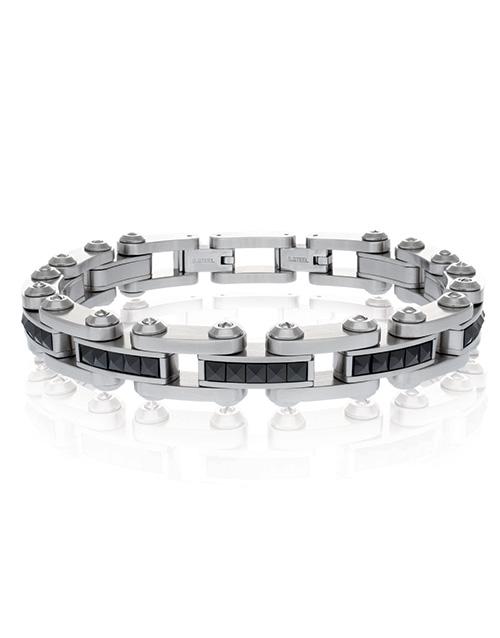 christmas: ARZ Steel Futuristic Stainless Steel Bracelet!