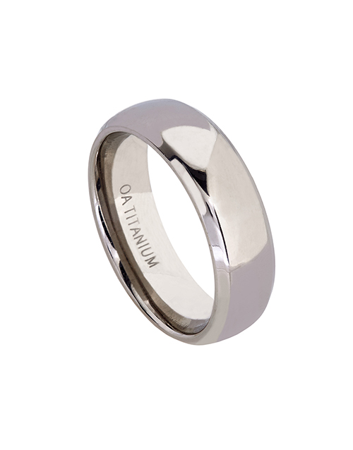 get-well: Titanium Gents 7mm Wide Polished Wedding Band!