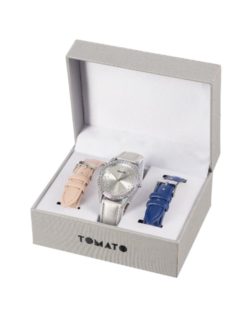 birthday: Tomato Ladies Watch with Exchangeable Strap!