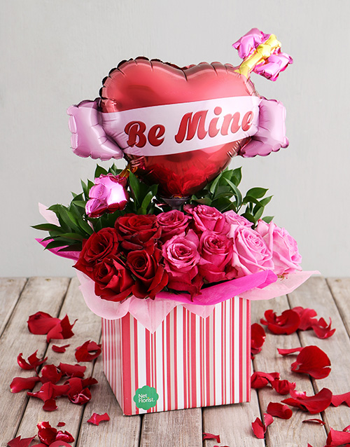 flowers: Heartfelt Balloon and Rose Bouquet!