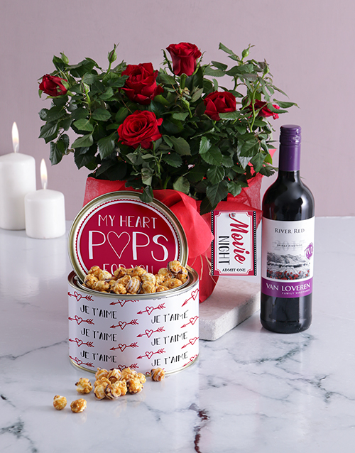 flowering: Romantic Movie Night For Two Hamper!