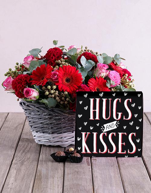 colour: Hugs And Kisses Floral Hamper!