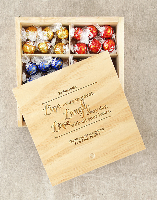 personalised: Personalised Live Laugh Love Lindt Box!