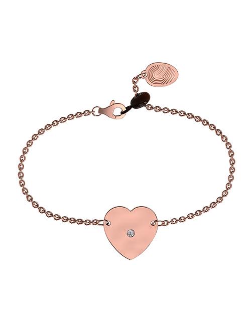 anniversary: Memi Diamond and Heart Personalised Bracelet!