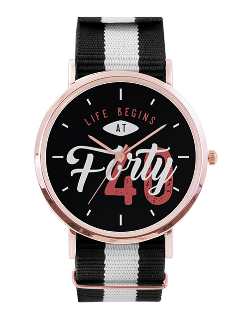 birthday: Personalised Life Begins Rose Gold Watch!