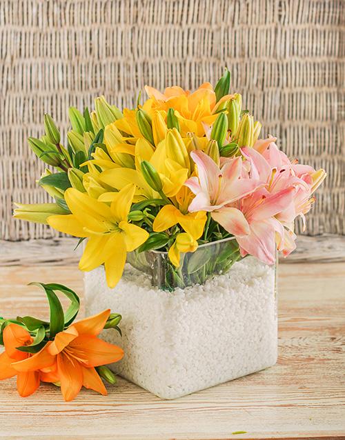 colour: Resplendent Vase of Lilies!