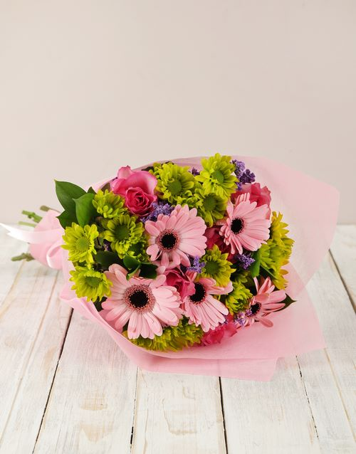 colour: Gerbera and Rose Bouquet!