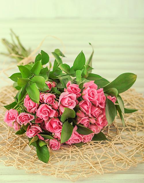 roses: 50 Kenyan Cluster Pink Rose Bouquet!
