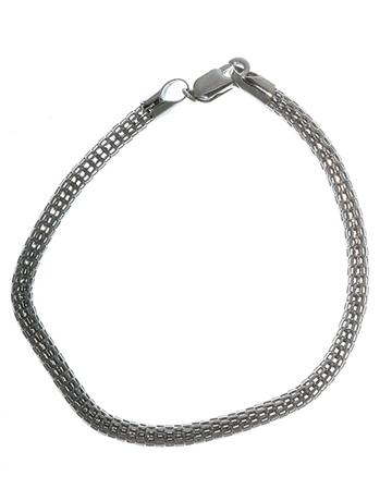 Sterling Silver 19sm Mesh Design Bracelet