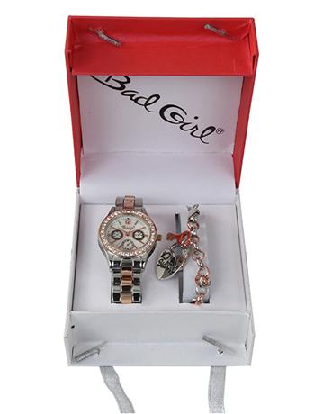 Bad Girl Rose Watch and Bracelet Set
