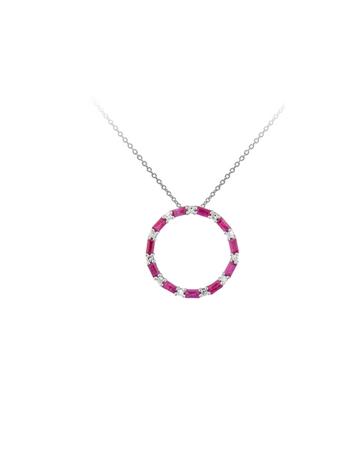 9KT Ruby and Diamond Circle of Life Pendant
