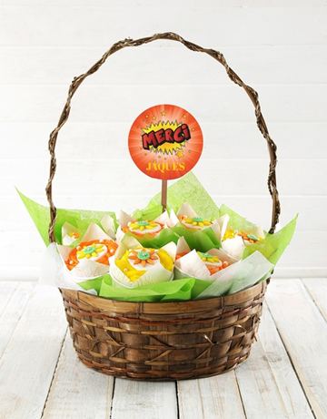 Personalised Merci Cupcake Bouquet